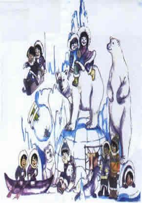 Boceto Falla Infantil 2003 - Lema: ¡Que vida más helada! - Autor: Bernardo Estela Parra