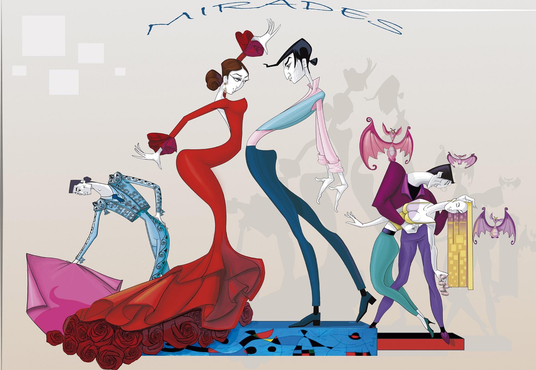 Boceto Falla Mayor 2019 - Lema: Mirades - Autor: Salva Bañuls i Néstor Ruiz
