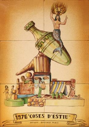 Boceto Falla Mayor 1976 - Lema: Cosas de Verano - Autor: Santiago Rubio
