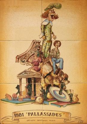 Boceto Falla Mayor 1981 - Lema: Payasadas - Autor: SANTIAGO RUBIO