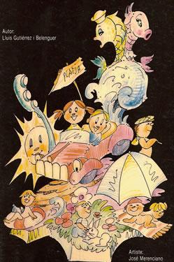Boceto Falla Infantil 1985 - Lema: Tiempo de Vacaciones - Autor: JOSE MERENCIANO