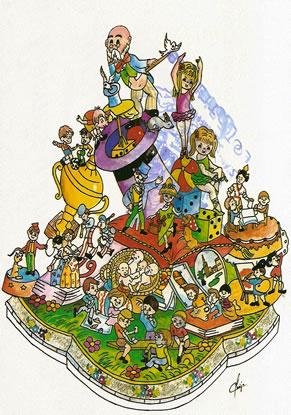 Boceto Falla Infantil 1988 - Lema: Ilusiones - Autor: Joaquin Clavijo