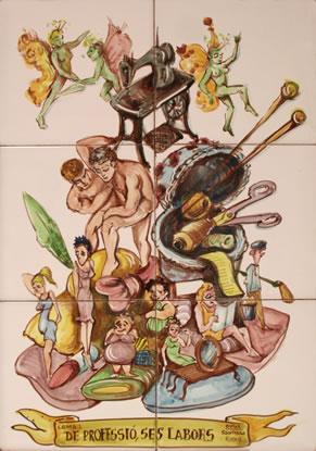 Boceto Falla Mayor 1988 - Lema: De profesion Laborante - Autor: SANTIAGO RIUS