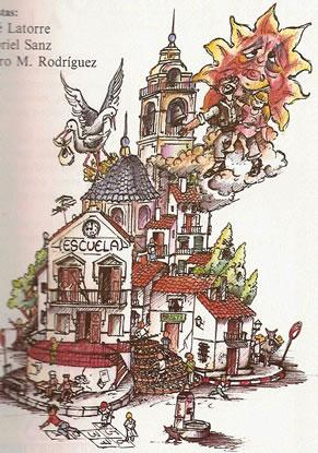 Boceto Falla Infantil 1989 - Lema: 1989 - Autor: LATORRE Y SANZ