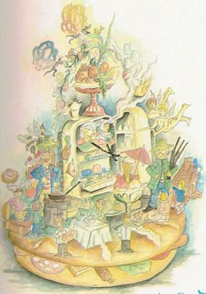 Boceto Falla Infantil 1990 - Lema: Calorias Light - Autor: ----