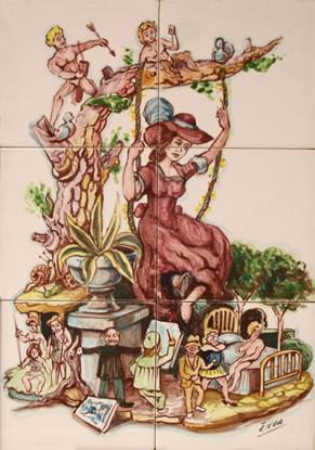 Boceto Falla Mayor 1990 - Lema: La mujer, esa institucion - Autor: ---