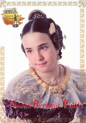 NOELIA BERMEJO VALLES - Fallera Mayor Infantil 2001
