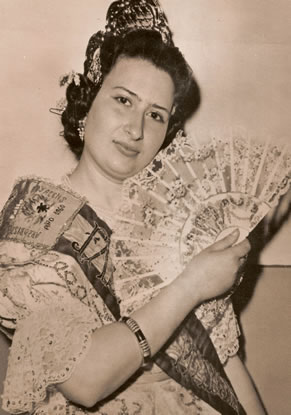 Mª ASCENSION LOPEZ GARCIA - Fallera Mayor 1960