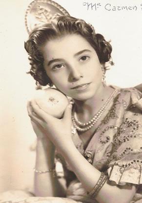 Mª CARMEN SANCHEZ - Fallera Mayor Infantil 1962