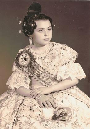 MATILDIN SANCHEZ ORTIZ - Fallera Mayor Infantil 1965