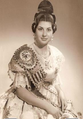 AMPARIN ALVAREZ CORTES - Fallera Mayor 1965