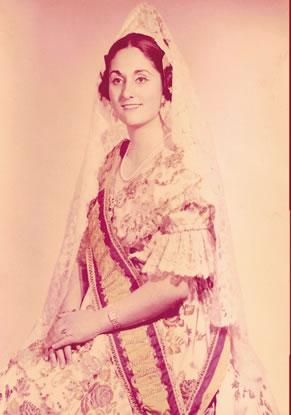 Mª ISABEL MORENO MUÑOZ - Fallera Mayor 1966