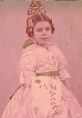 MERCEDES TEROL NAVARRO - Fallera Mayor Infantil 1967