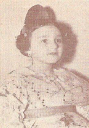 Mª ANGELES PERIS FALCO - Fallera Mayor Infantil 1970