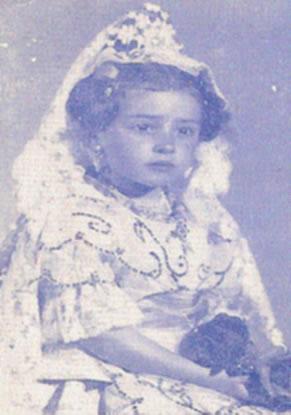 ESTHER TARANCON NAVARRO - Fallera Mayor Infantil 1973