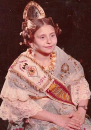 Mª VIRTUDES GARCIA GUALDA - Fallera Mayor Infantil 1974