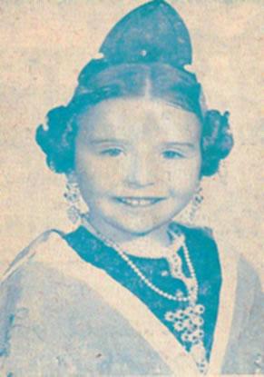 Mª CARMEN SANCHEZ TORTOSA - Fallera Mayor Infantil 1975