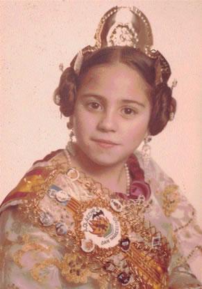 Mª PILAR SOLER ARAQUE - Fallera Mayor Infantil 1981