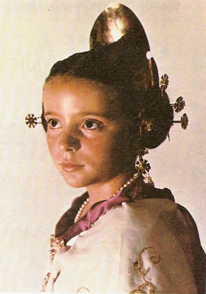 SANDRA MORENETE CASANOVA - Fallera Mayor Infantil 1984