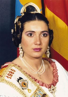 Mª AMPARO GARCIA RUIZ - Fallera Mayor 1986