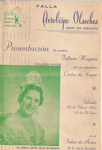 FALLAS 1962 (Pincha para ampliar información)