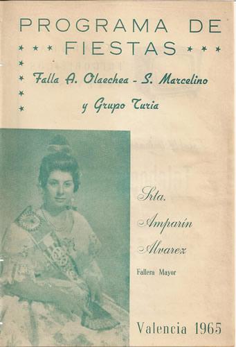 Llibret 1965 Falla Arquebisbe Olaechea - Sant Marcel.lí