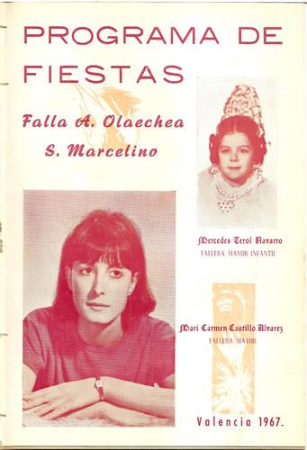 Llibret 1967 Falla Arquebisbe Olaechea - Sant Marcel.lí
