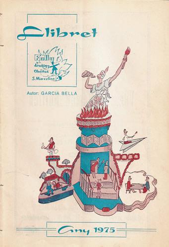 Llibret 1975 Falla Arquebisbe Olaechea - Sant Marcel.lí