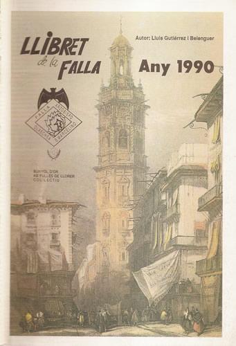 Llibret 1990 Falla Arquebisbe Olaechea - Sant Marcel.lí